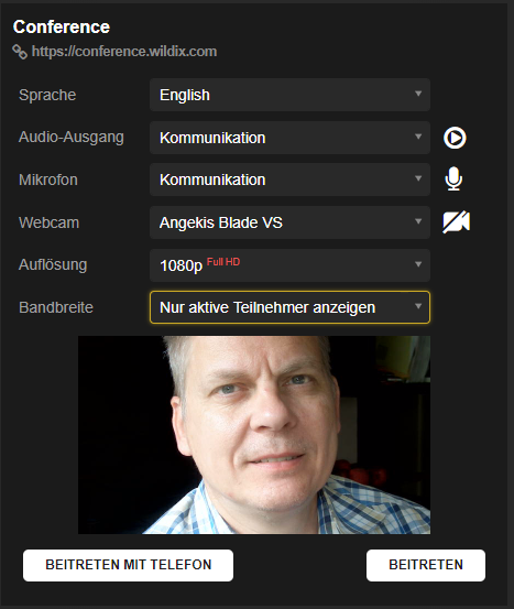 Wildix Webbrowser basierte Videokonferenz Systeme